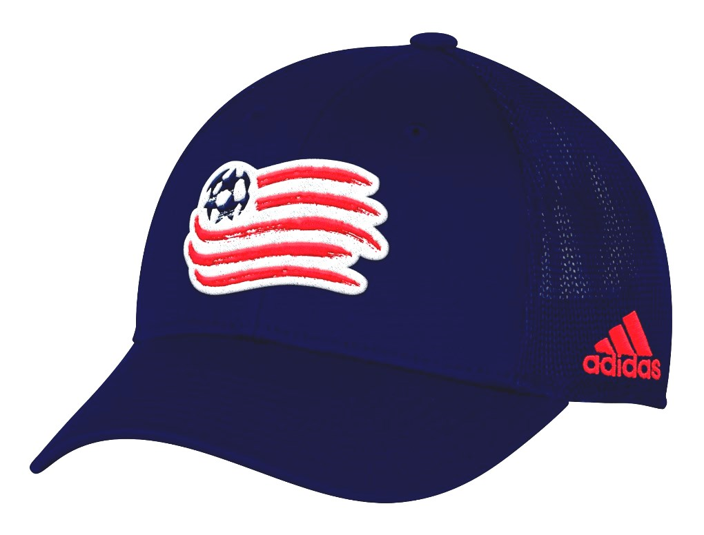 "New England Revolution Adidas MLS ""Corner Kick"" Structured Flex Mesh Back Hat"