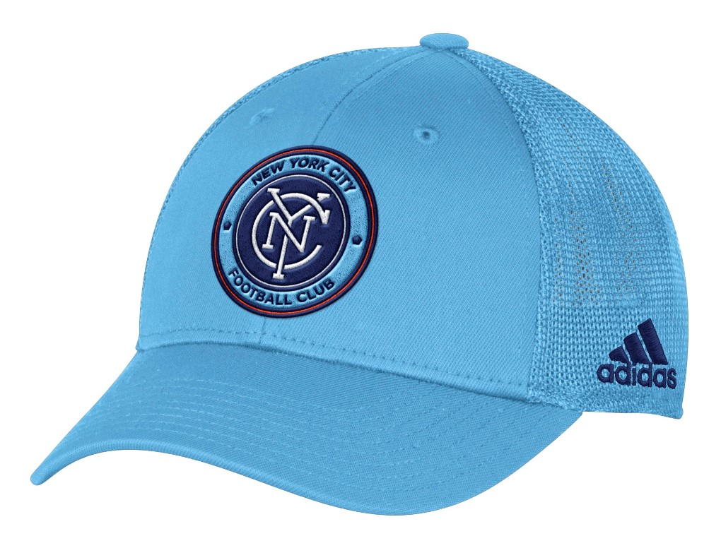 "New York City FC Adidas MLS ""Corner Kick"" Structured Flex Mesh Back Hat"