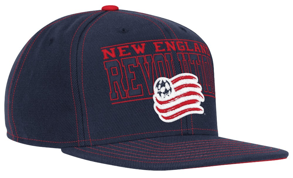 outlet store 400bc c97f6 New England Revolution Adidas MLS Authentic Flat Brim Team Snap Back Hat