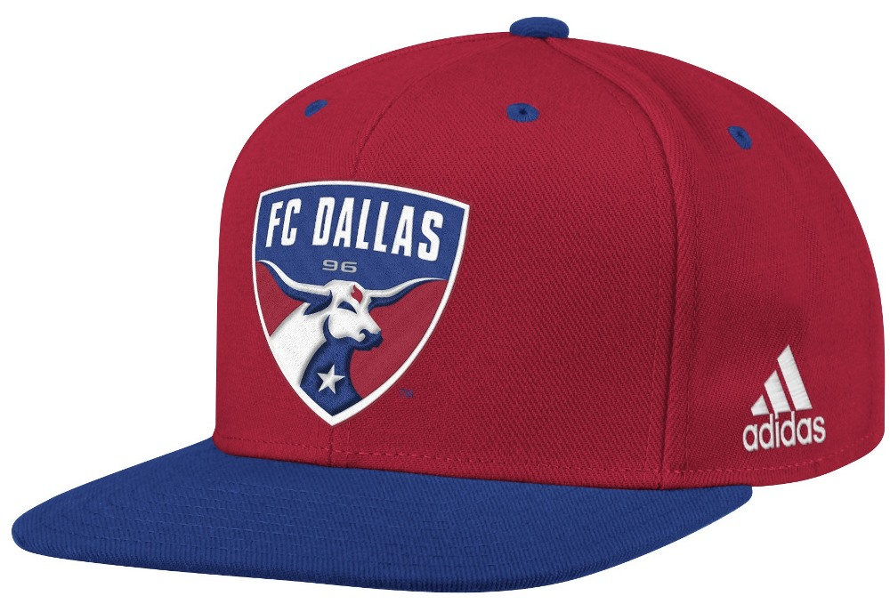 FC Dallas Adidas MLS Authentic Flat Brim Team Snap Back Hat