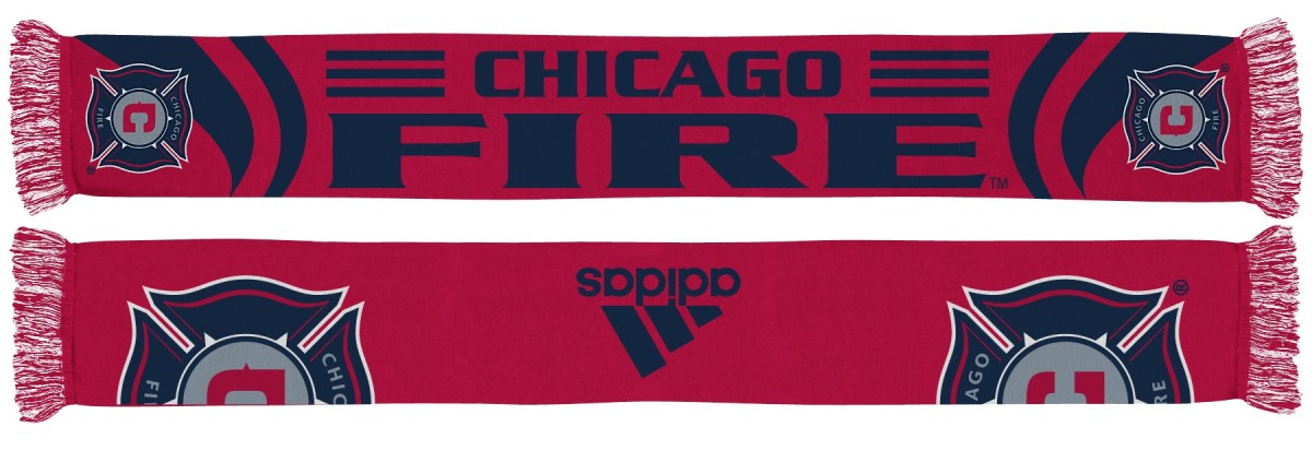 Chicago Fire Adidas MLS Authentic Team Scarf