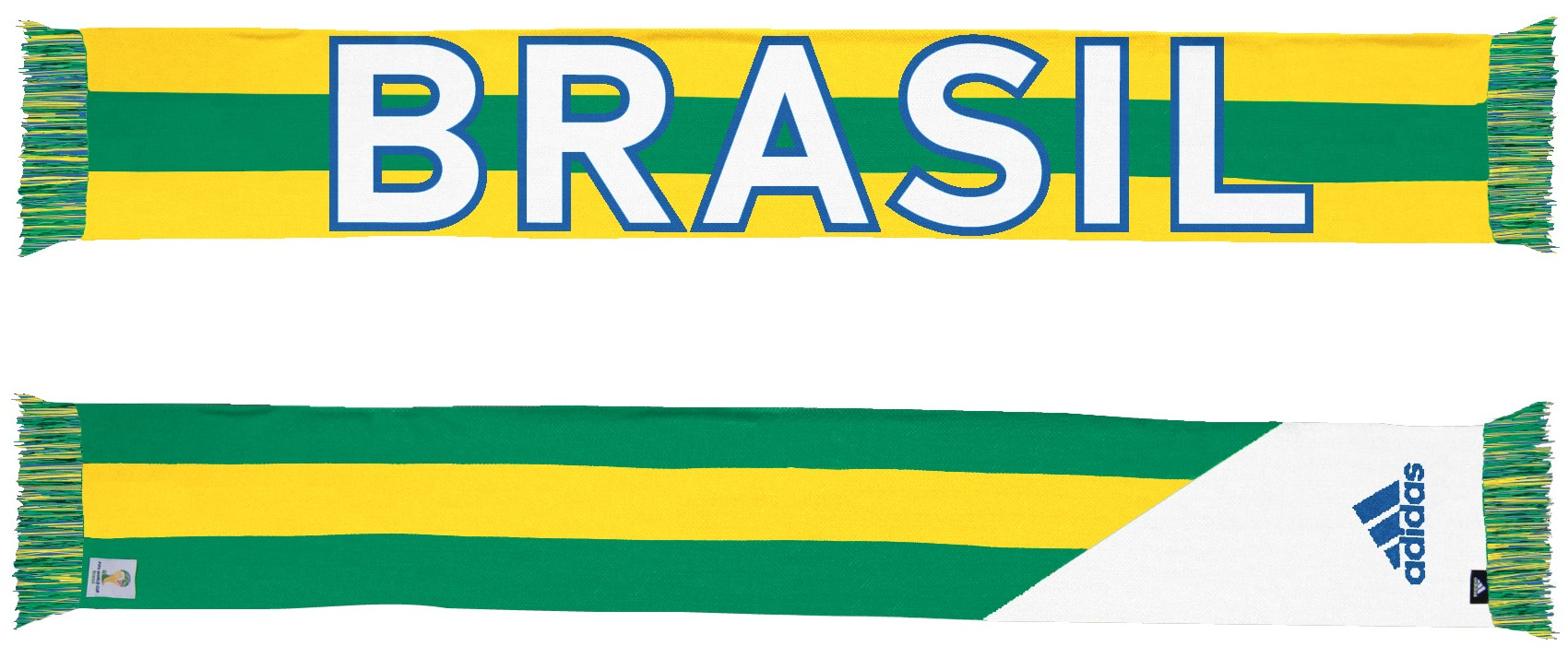 Brazil Brasil Adidas 2014 FIFA World Cup Authentic Jacquard Team Scarf