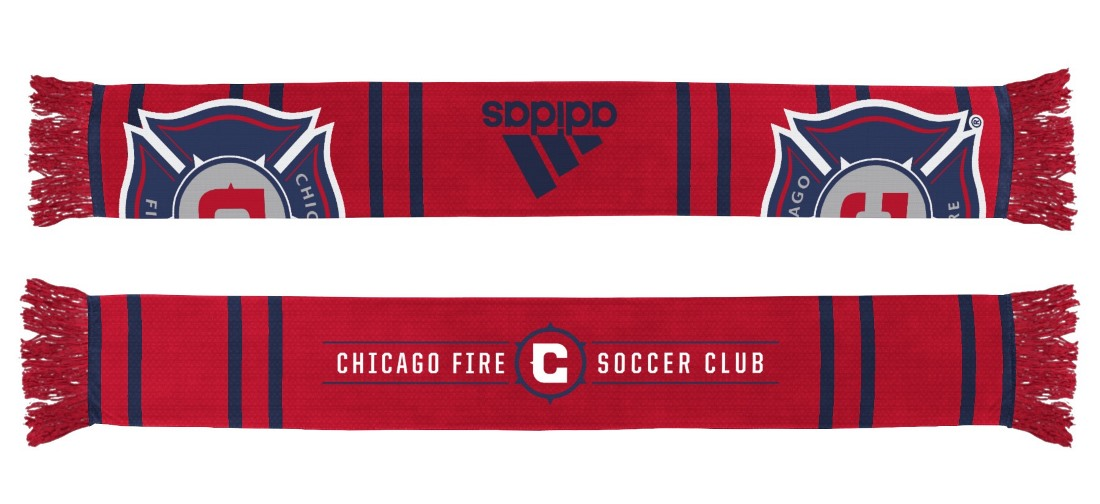 "Chicago Fire Adidas MLS ""Performance"" Jacquard Team Scarf"