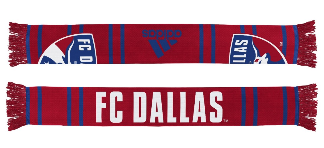 "FC Dallas Adidas MLS ""Performance"" Jacquard Team Scarf"