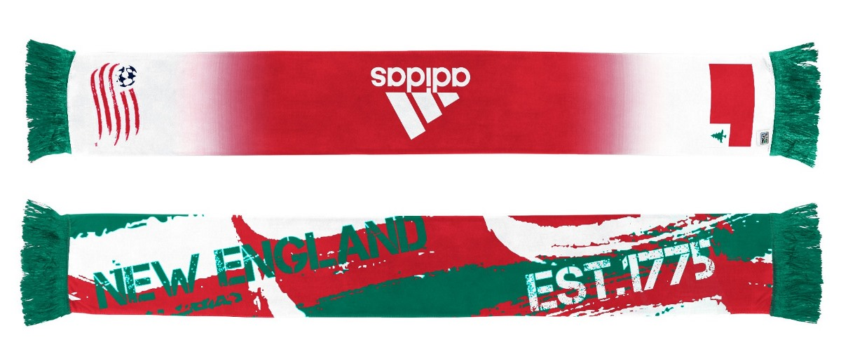 "New England Revolution Adidas MLS ""Established"" Sublimated Team Logo Scarf"
