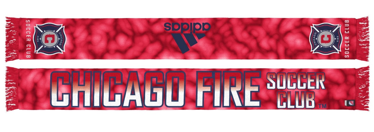 "Chicago Fire Adidas MLS ""Sublimated"" Polyester Team Scarf"