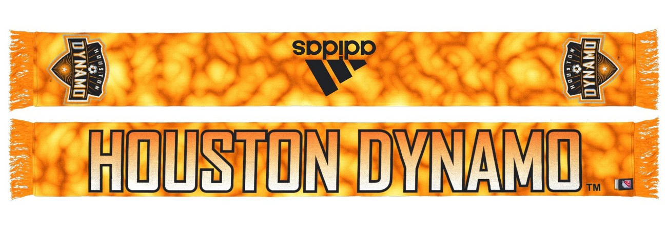 "Houston Dynamo Adidas MLS ""Sublimated"" Polyester Team Scarf"