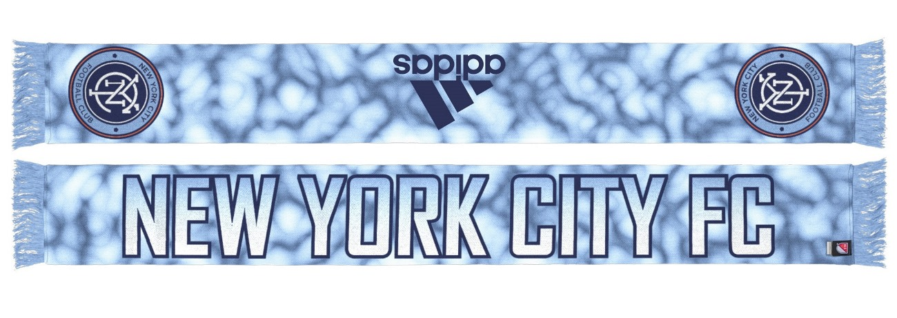 "New York City FC Adidas MLS ""Sublimated"" Polyester Team Scarf"