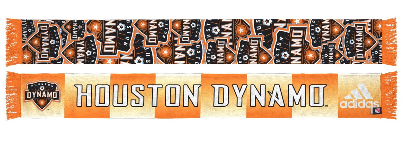 "Houston Dynamo Adidas MLS ""Repeating Logo"" Polyester Team Scarf"