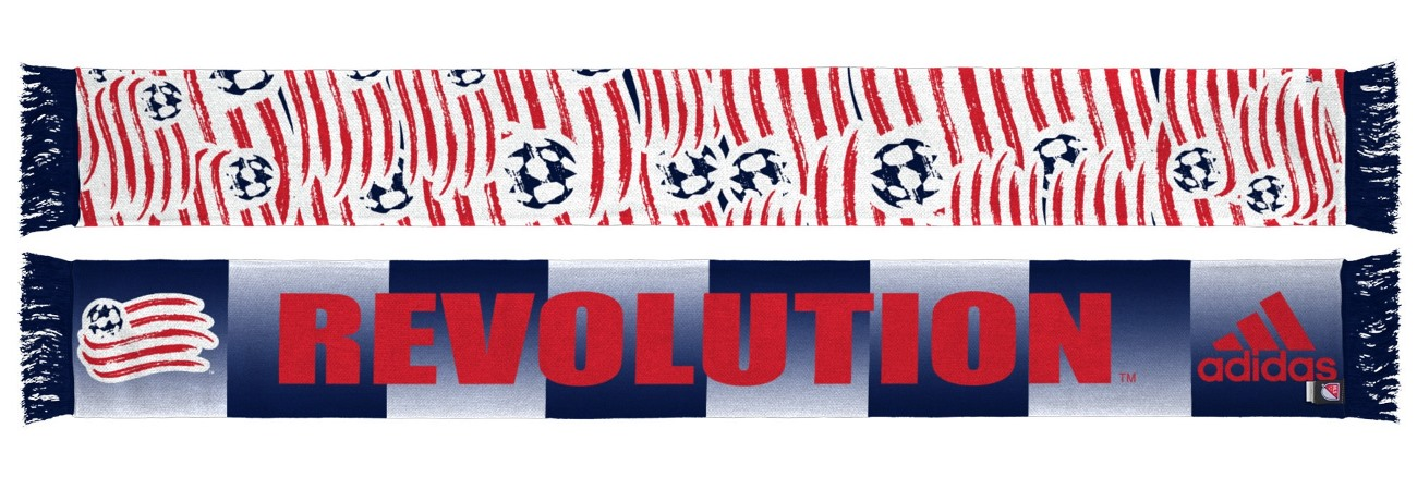 "New England Revolution Adidas MLS ""Repeating Logo"" Polyester Team Scarf"