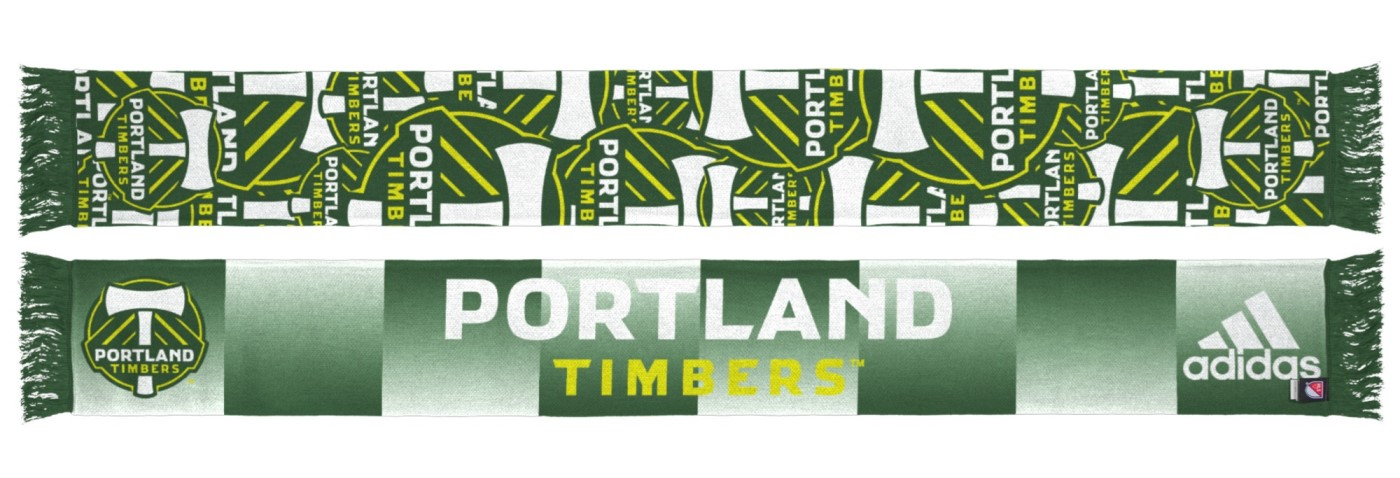 "Portland Timbers Adidas MLS ""Repeating Logo"" Polyester Team Scarf"
