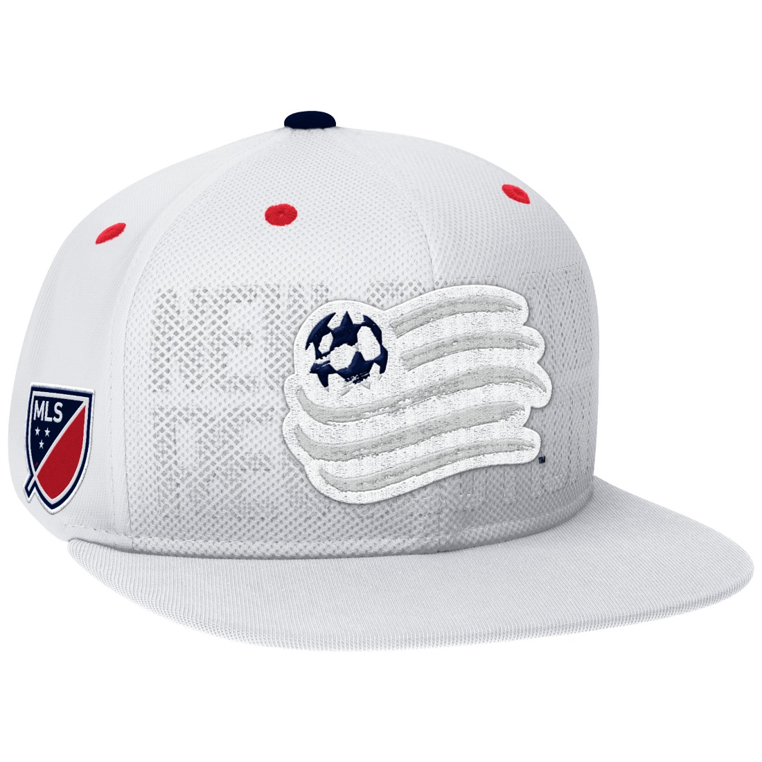 New England Revolution Adidas MLS Authentic Team Performance Snap Back Hat