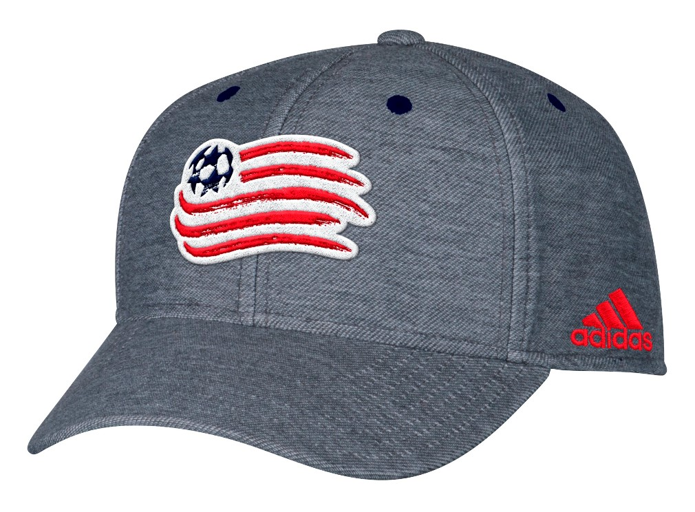 New England Revolution Adidas MLS Heather Gray Structured Adjustable Hat