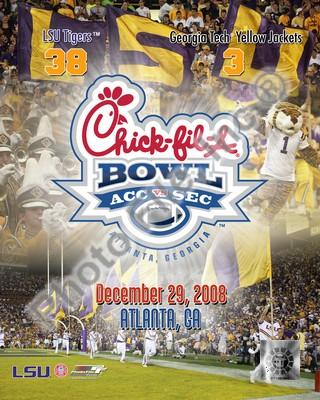 LSU Tigers 2008 Chick-fil-A Bowl 8x10 Photo
