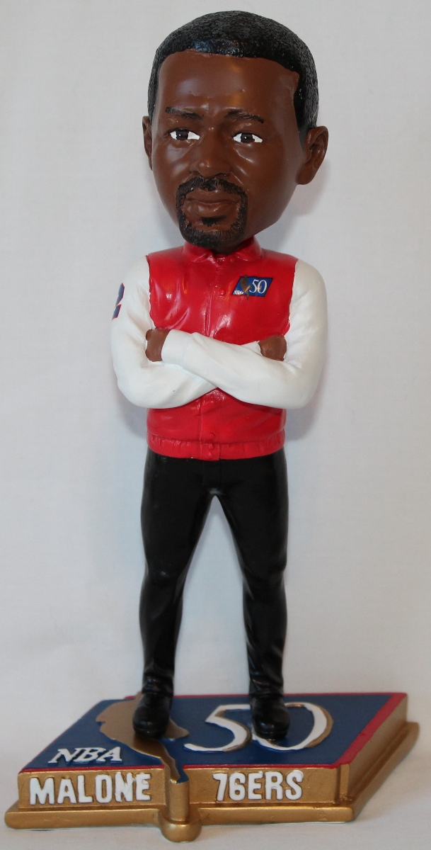 Moses Malone Philadelphia 76ers NBA 50 Greatest Commemorative Bobble Head