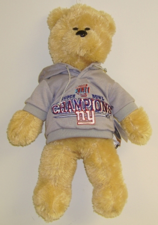 New York Giants Super Bowl XLII Champions 14'' Hooded Bear