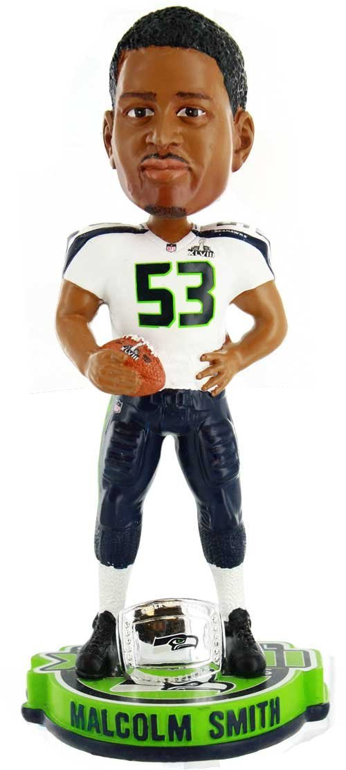 Malcolm Smith Seattle Seahawks NFL Super Bowl XLVIII Champions Bobblehead