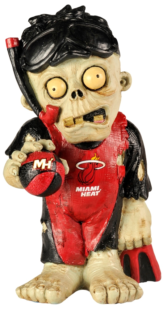 Miami Heat NBA 8'' Thematic Zombie Figurine
