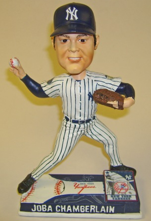 Joba Chamberlain Yankees 2008 MLB On Field Bobblehead